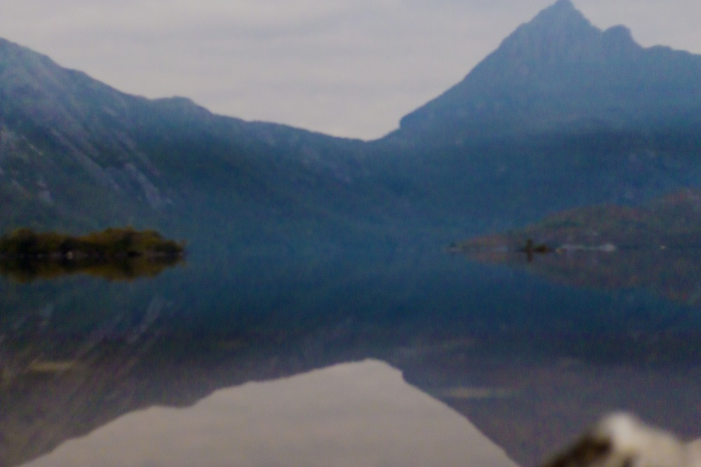 Night time at Dove Lake.